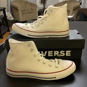Brand new, never worn white high top converse